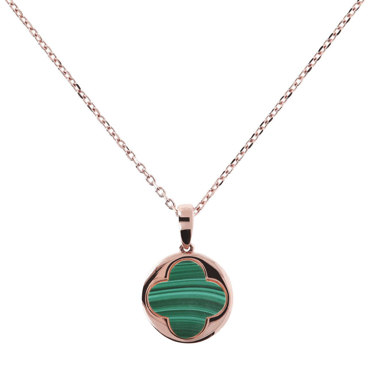 Big-Four-Leaf-Clover-Charm-Necklace-MALACHITE